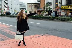 Girl in Shinjuku (Jennifer Lea) Tags: japan travel tokyo shinjuku sigma art 30mm nikon