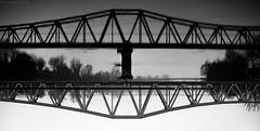 Pont (Meculda) Tags: pont métal monochrome noiretblanc monochrom blackandwhite eau