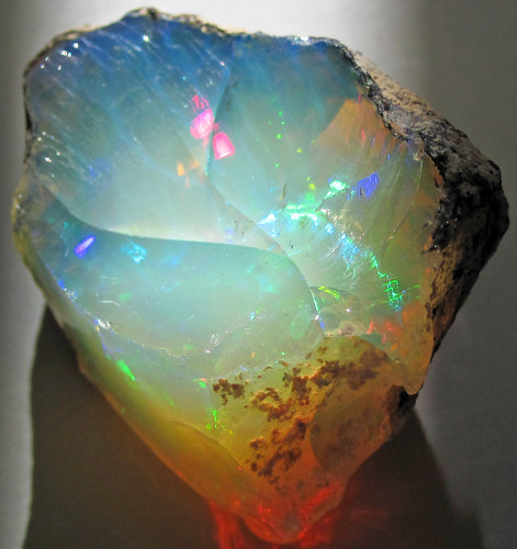 Hydrophane opal (precious opal) dried out (Tertiary; Ethiopia) 3