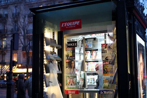 Paris street kiosk