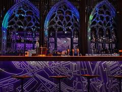 Blue mustard (heinzkren) Tags: architektur location lokal interior einrichtung design finedining event music culture meltingpoint treffpunkt food drinks ricoh indoor wien vienna downtown bar