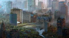 HYPNAGOGIC CITY (yonderbean) Tags: modo3d clarisseifx toronto city hall oldcityhall nathan phillips rendering 3dmodelling artwork procedural 3dcoat surreal futurism maximalism