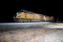 NS 23N (Steve Hardin) Tags: es44ac norfolksouthern unionpacific railroad railway railfan train intermodal seney ga georgia stacktrain shippingcontainer