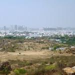 Blick auf  Hyderabad von der Festung Golkonda, Indien