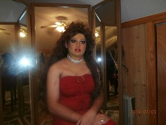 Red minidress (Doroty Doll ♥) Tags: stockings leather dress mask bra crossdressing blouse tgirl mature wig corset secretary mistress miniskirt pantyhose crossdress unbuttoned lycra bluse minidress girdle businesswoman workinggirl officelady doroty femalemask
