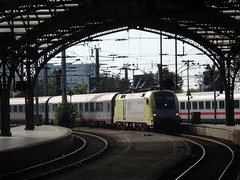 182 596 arrives at Koln, 20/8/15, EC119 0727 Munster-Innsbruck (Alister45) Tags: train germany engine cologne locomotive lok db182