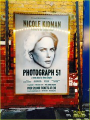 Nicole Kidman (evangelinarangel) Tags: uk greatbritain london umbrella theater unitedkingdom jeans rehersal nicolekidman peacoat cellhone hightopsneakers photograph51