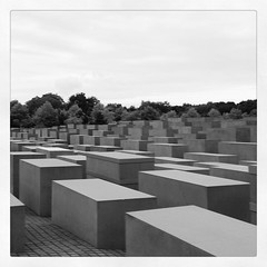 236 - #365 #pictureaday #holocaustmemorial #Berlin (noisy__nisroc) Tags: berlin square blackwhite mobil squareformat inkwell holocaustmemorial iphoneography instagramapp uploaded:by=instagram