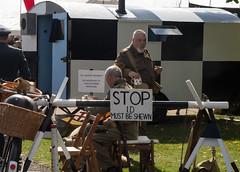 Home Guard Check point (Beth Hartle Photographs2013) Tags: duxford reenactment raf scramble dispersal homeguard wraf middlewallop 609sqndispersal 1940battleofbritainairshow airtrafficcontrolcaravan wrafdriver 1937vauxhallcar