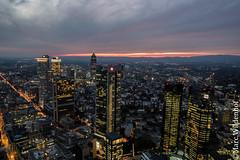 Frankfurt am Main Skyline - Germany (Marc Wildenhof) Tags: germany de deutschland licht sonnenuntergang hessen citylights nightscene frankfurtammain nachtaufnahme hochhaus wolkenkratzer canoneos7dmarkii