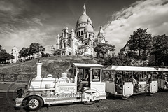 Paris June 2015 (3) 510-Edit (Mark Schofield @ JB Schofield) Tags: street paris france monochrome seine french cafe europe basilica streetlife scooter eiffel coeur ladefense sacre cupola domes montparnasse department peopleandpaths