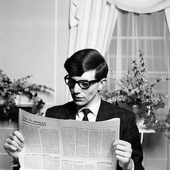 tumblr_ng9cq0iiZ01rpjs24o3_400 (hawkingfan) Tags: glasses newspaper suit cleancut stephenhawking gaurdian 48glebeplace