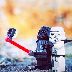 A selfie for the dark side! #lego #legos #starwars #stormtrooper #darthvader #selfie (The Toy Bunker) Tags: toy toys bunker the youtube thetoybunker toychannel