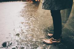 Pont de Sully (Louis Dazy) Tags: paris reflection film feet water rain night analog 35mm photography shoes floor pavement