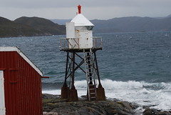 Stormy day (solfridn) Tags: sea lighthouse storm norway waves natur outhouse fyr nordnorge hav finnmark hammerfest høst bølger fyrlykt