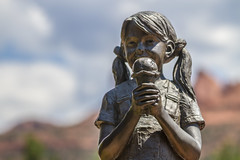 Girl with Ice Cream Cone Statue Sedona (Howard Brown Photographic) Tags: arizona sedona az