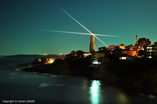 Midnight Rumeli Feneri Lighthouse
