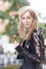 ([ raymond ]) Tags: street woman girl beautiful fashion pretty dress bokeh gorgeous style redhead slip lbd nip womensfashion img3502