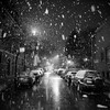 Black and Snow (Andy Marfia) Tags: urban snow chicago night streetlights snowstorm fluffy flakes andersonville f35 iso3600 150sec d7100 1685mm