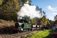 (Articdriver) Tags: autumn trees heritage woodland transport railway trains steam locomotive forestofdean 5541 parkend deanforestrailway