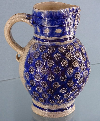Salt-glazed stoneware jug