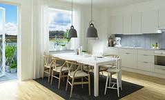 Maria Gård - kök i etagelägenhet