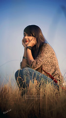 Fatema (Saidul Islam Rahie) Tags: portrait sky moon nature greentree