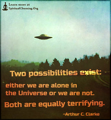 SpiritualCleansing.Org - Love, Wisdom, Inspirational Quotes & Images (SpiritualCleansing) Tags: two alone fear alien ufo both universe arthurcclarke extraterrestrial terrifying intelligent possibilities exist equally