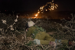 551st Brigade Reserve Soldiers (Israel Defense Forces) Tags: israel defense forces idf tanks paratroopers southernisrael nighttimeexercise