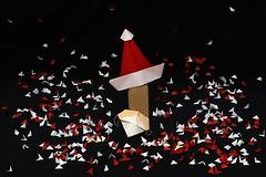 oh, oh, oh, oh...... (De Rode Olifant) Tags: origami marjansmeijsters santa 3d akirayoshizawa santamask mask paper paperfolding santaclaus christmas xmas