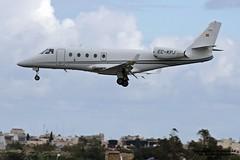 EC-KPJ LMML 12-12-2016 (Burmarrad (Mark) Camenzuli) Tags: airline tag aviation españa aircraft gulfstream g150 registration eckpj cn 243 lmml 12122016