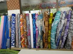 Fabrics in the supermarket!