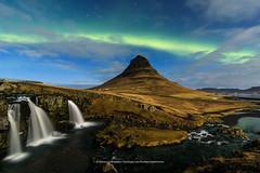 Kirkjufell (Kjartan Guðmundur) Tags: iceland ísland kirkjufell auroraborealis northernlights norðurljós nocturne ngc nordlys nature zorzapolarna polarlict stars sky clouds outdoor tokinaatx1628mmf28profx canoneos5dmarkiv kjartanguðmundur