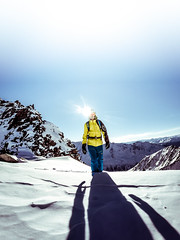 Shadow on the wall (michal.gajdos) Tags: mountain alps glacier skiing backcountry touring steep shadow snow winter sky yellow blue freezing cold ski freeride freeski wideangle gopro powder inspiration explore findyourself strong poetry