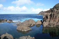Natural Sea Pools (Vicky Hugheston) Tags: sea ocean atlantic madeira portugal maritime water pools rocks rockformations basalt basaltrock holidaydestinations sky bluesky wintersun seapools rockpools