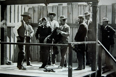 The Hanging Of James Fleming Parker (~ Lone Wadi ~) Tags: prescottarizona arizonaterritory oldwest americansouthwest trainrobber murderer killer deathsentence hanging execution gallows deathbyhanging capitolpunishment retro 1890s 19thcentury victorian sheriff lawenforcement condemned prisoner executioner