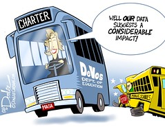 1216 devos education cartoon (DSL art and photos) Tags: editorialcartoon donlee donaldtrump election devos bus education cabinet schools charterschools michigan