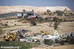 House demolition, Umm Al-Hiran, Negev, 18.1.2017 (Activestills) Tags: ummalhiran unrecognisedvillage negev naqab bedouins palestinians48 house demolition housing displacement prawerplan israel police bulldozer debris agriculture topimages kerenmanor