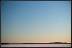 Lake Siljan in Winter (mmoborg) Tags: lake siljan winter snow mmoborg ice frozen sunset sundown sky afternoon