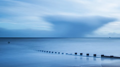 Stormy Beach (Craig Hannah) Tags: aberdeen beach groins seadefences sand northsea winter january 2017 aberdeenshire clouds sky craighannah scotland uk longexposure bigstopper