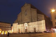 San Petronio (sarakahsay) Tags: photography bolo bologna italy sanpetronio church piazzamaggiore evening lights people sky shot street photo colour february 2017 canon