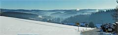 Buchen - Siegerland (friedrichfrank1966) Tags: buchen pano panoramica natur winter sunlight sonnenschein heaven view blick light contrast berge mountain wald forest 70300 nikon street strase house gebäude architektur schild trafficsign nrw siegerland germany