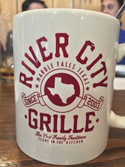 River City Grille (austin.restaurants) Tags: ios102beta iphone6 parkinglot restaurantrivercitygrille public locationmarblefallstx img6522 2017 january 15th 170115 sunday january15th