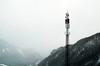 Mountain Frequency (dorianborovac) Tags: austria alps stpankraz mountains hills radiotower trees winter outdoor nature snow fog clouds nikon d5100 roadtrip