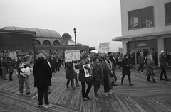 Sisterhood Is Very Powerful (thereisnocat) Tags: canonet canonetql17 jch400streetpan protest womensmarch womensmarchap asburypark monmouthcounty newjersey nj