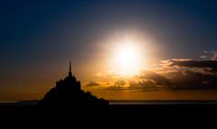 Sunrise at Mont-Saint-Michel (lucien_photography) Tags: rouge lemontstmichel bassenormandie france sunrise shadow sky sun normandy brittany montsaintmichel saintmichel abbey landscape