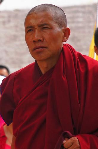 Tibetan monk in Qinghai
