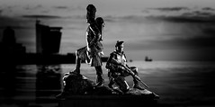 Gordon Highlanders.jpg (___INFINITY___) Tags: 6d aberdeen bw gordonhighlanders canon darrenwright dazza1040 eos flash infinity night scotland statue stone strobist weathered