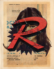 She R (Fierceham) Tags: digitalcollage collageart collage cutnpaste cutandpaste graphic graphicart graphicdesign girl grunge vintage type typography star r eye letter alphabet singleletter