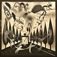 "The tragedy of ""Dona Ajada"" - VI - Suffering soul- José de Almada Negreiros (1893-1970) (pedrosimoes7) Tags: josédealmadanegreiros caloustegulbenkianmuseum moderncollection lisbon portugal salvadorbacarisse manuelabril magiclantern lanternamágica museu museum musée creativecommons cc ✩ecoledesbeauxarts✩"